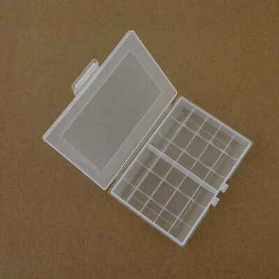 Useful 1x Hard Plastic Battery Case Box Holder Storage for  AA/AAA Batteries