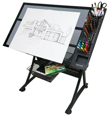 Mont Marte Creative Art / Craft Station Table -  Glass Top