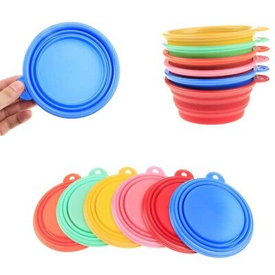 Silicone Collapsible Pet Dog Bowl Cat Travel Water Food Container Dish Feeders