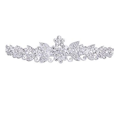 Bride Bridesmaids Wedding Party Tiara Rhinestone Crown Comb Pin W3P4