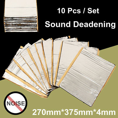 10 Sheets 270x375x4mm Car Van Sound Proofing Deadening Insulation Damping Mat