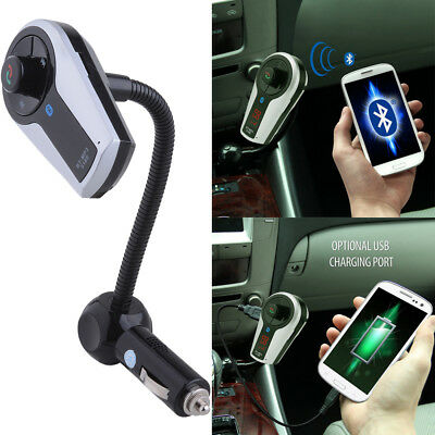 Bluetooth Speakerphone Handsfree Car Kit w/ FM Transmitter Music Control Charger