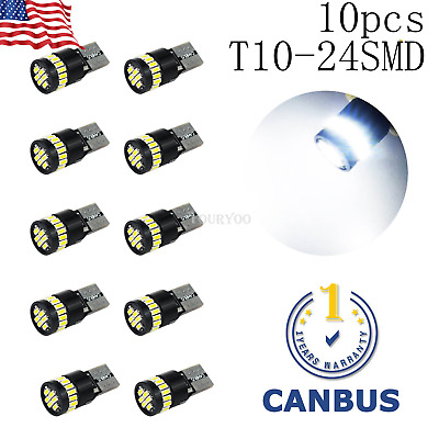 10x Error Free 194 2825 168 LED Dome Map Light License plate Bulbs For Chevy