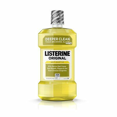6 Count Original Listerine Antiseptic Mouthwash Freshen Breath Kill Germs 1.5 L