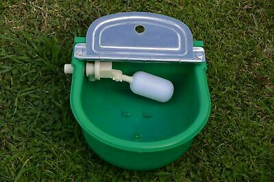 Water Trough 2x Automatic for Sheep Horse Dog Chicken Cow Bowl Plastic Auto Fill