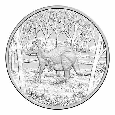 Kangaroo Series 2016 Seasons Change $1 Fine Silver Frosted UNC Coin On Card