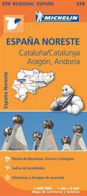 Aragon Cataluna - Michelin Regional Map 574 Map 9782067184251 (Sheet map, 2013)