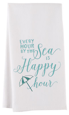 Kay Dee Designs Sea Is Happy Kitchen Towel One Size White/blue