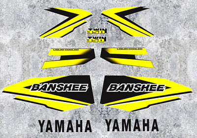 98' 1998 Yamaha Banshee Yellow/Black Decals Stickers Quad Graphics 10pc kit