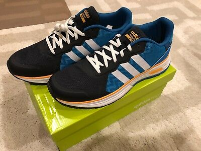 more photos 953e6 5a33e Mens Adidas NEO Cloudfoam Flyer AW5314 - Grey Blue + White Side Stripes  Size 10