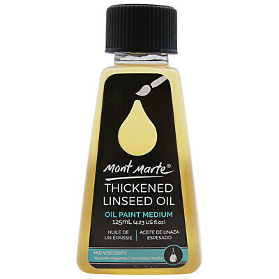 Mont Marte Oil Medium -  Thickened Linseed Oil 125ml