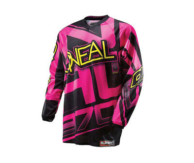 Oneal Adult Element Jersey Pink/Black Motocross Size Xl