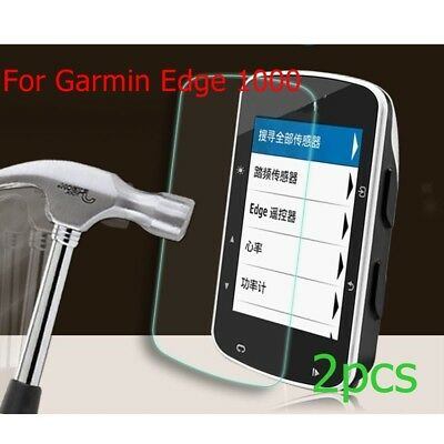 2pc Ultrathin HD Tempered Glass Film Screen Protector For Garmin Edge 1000 Watch