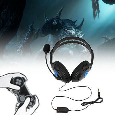 Wired Gaming Headset Headphones with Microphone for Sony PS4 PlayStation 4 EC