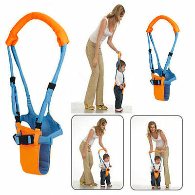 To Moon Walk Walker Assistant Baby Toddler Kid Harness Bouncer Jumper Learn EC