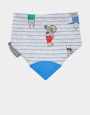 Joules Cheeky Chomper Necker Chew in Grey Bear Stripe in One Size