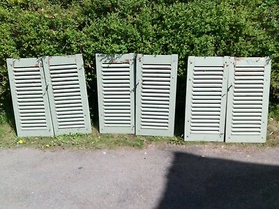 Antique pine french shutters