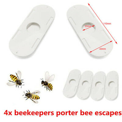 4x Beekeepers Porter bee escapes White Useful Beekeeping Beekeeper Tools HOT ♫