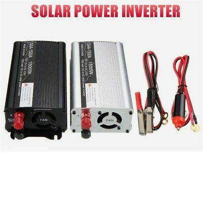 Solar Power Inverter 1500W 3000W Peak 12V DC To 230V AC Modified Sine Converter