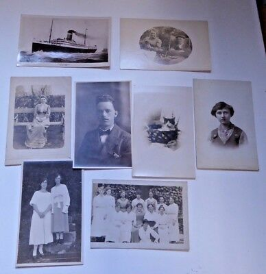 Job Lot of Old RP and Other Postcards - RMS Virginian / Cat / Ladies etc