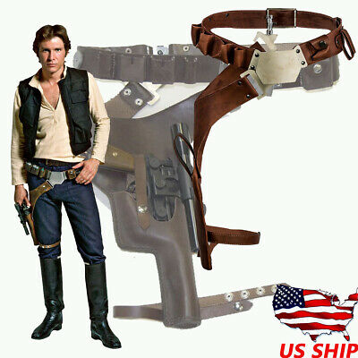 Star Wars Han Solo Leather Belt Cosplay Costume Props Leg Pack Gun package Adult