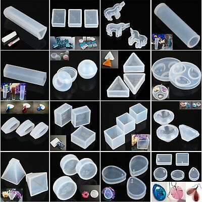 1pc Silicone Jewelry Pendant Resin Craft Mold 45 Style DIY Earrings Beads Crafts