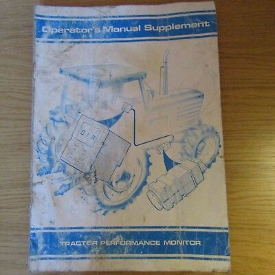 FORD Tractor Performance Monitor Owners Manual Supplement 1989