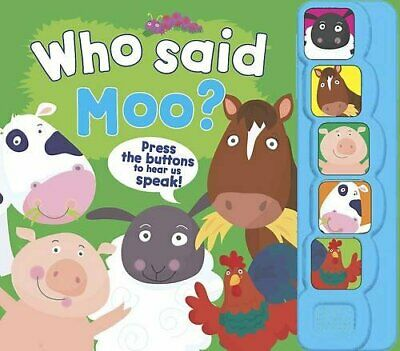 5 Button Sound - Who Said Moo? (5 Button Sound Book) Book The Cheap Fast Free