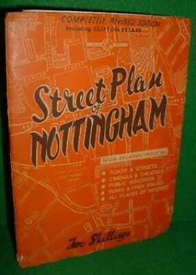 Nottingham: Street Plan and Guide Sheet map, folded Book The Cheap Fast Free