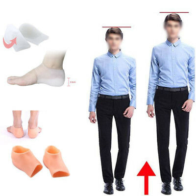Unisex Taller Shoe Inserts Height Increase Insoles Pads Silicone White/ Apricot