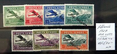 ALBANIA 1927 Airmail OPT's As Described Mounted Mint NH410