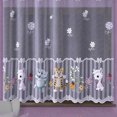 Kids Curtain ZOO animals Sold by Metres Children Room  SLOT top - MANY SIZES