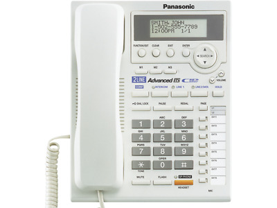 Panasonic KX-TS3282W Phone 2-Line Data Port & AC Adapter White used CLEAN!