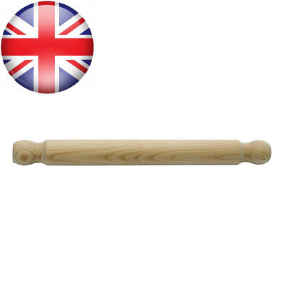 H & L Russel Ltd Solid Rolling Pin, FSC Beech Wood, 40 Centimetres