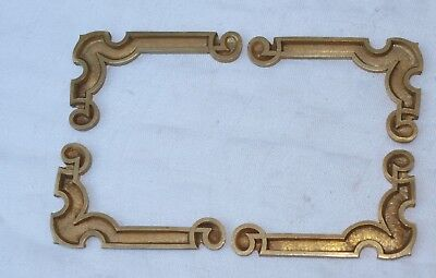 4 Unusual Brass Clock Etc Spandrels Finials - 2 Left & 2 Right