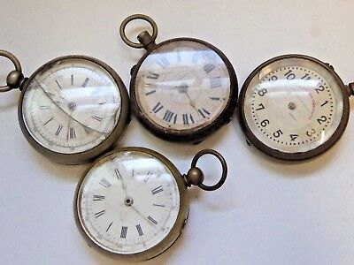 4 x Gent's Antique Railway Timekeepers and Chronograph Pocket Watches Ref#I