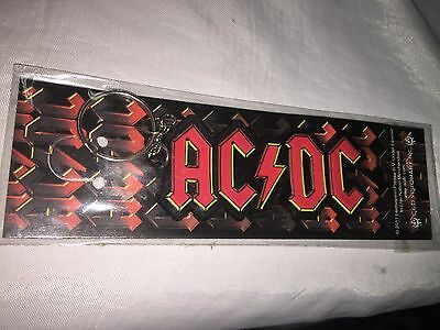 AC / DC KEYCHAIN,,  Angus, Bon, Malcolm, Phil, Brian, Cliff We Salute You!   8a