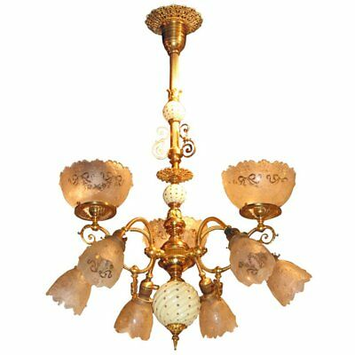 Victorian Gas/Electric Chandelier