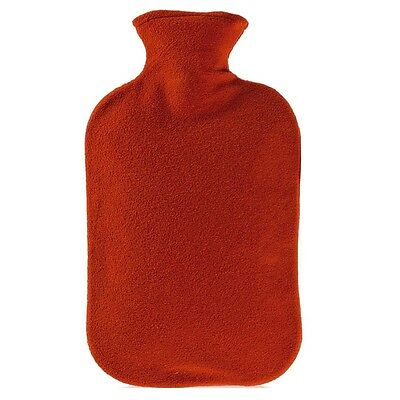 Fashy Hot Water Bottle with Red Fleece Plushie Cover 2L Water Bottle