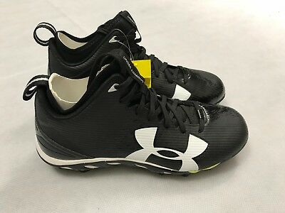 best service aab62 a47b3 Under Armour Mens 9 Ua Spine Fierce Mc Football Cleats Black 1269740-001  Nwt E4