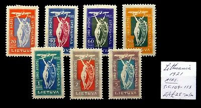 LITHUANIA 1921 Airmail As Described Mounted Mint NH454