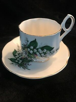 Antique Royal Dover Bone China Tea Cup and Saucer