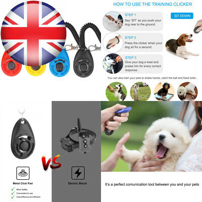 Dog Clicker, [4 PCS, Multi-Color] Diyife Training Clicker with Wrist Strap...