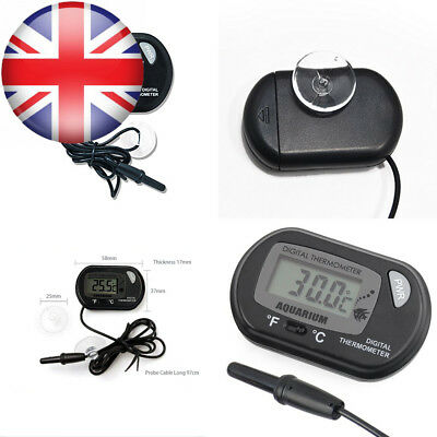 Doutop Aquarium Thermometer Fish Tank LCD Digital with Suction Cup for Pond...
