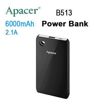 APACER Mobile Power Bank B513 6000mAh Black-302734492764