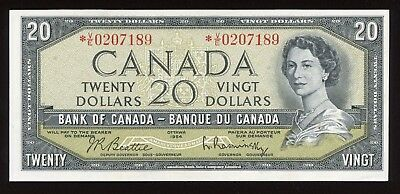 1954 Bank of Canada $20 Replacement *V/E - Scarce