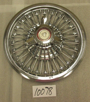 "1965 1966 65 66 Mercury Comet 15"" Wire Spinner Hubcap Hub Cap Good Used Oem 978"