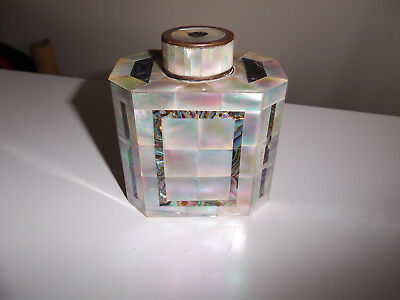 Antique Abalone Mother Of Pearl Tea Caddy Tea Cannister Loft Find Lovely