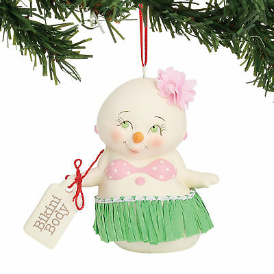 Department 56 E8 Christmas Snowpinions Bikini Body 3in Ornament 6000912