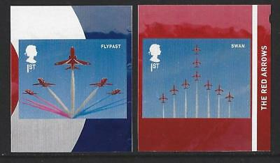 Great Britain 2018 The Red Arrows Self Adhesive Pair Unmounted Mint,Mnh